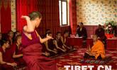 藏传佛教高级学衔考试辩经现场