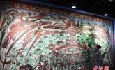 大幅高保真莫高窟复制壁画亮相敦煌