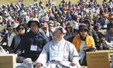 韓國數千名佛教徒打坐 祈愿半島和平