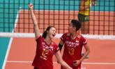 中国女排3-0巴西 惠若琪振臂欢呼