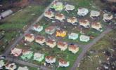"""航拍飓风灾区 房屋遭集体""""剃头"""" 组图"""