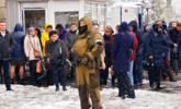 """乌克兰""""卢甘斯克共和国""""政变后的街头"""