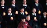 悼念南京大屠杀死难者烛光祭现场