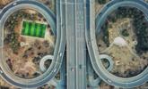 足球场建立交桥中心:还没踢球就绕晕
