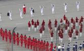 朝鲜拉拉队演出前练习画面曝光