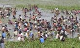 印度渔民捕鱼一幕