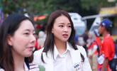 韩国体操女神笑容甜美现身亚运