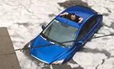 暴雨冰雹突袭哈尔滨 街道成冰河