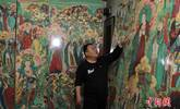 """画家10年临摹完成""""毗卢寺壁画"""""""