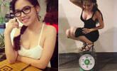 越南女孩蹲下称体重 上万网友点赞