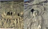 4男子游河南古寺 爬佛像上拍大合照
