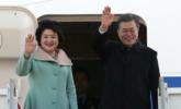 文在寅乘机离开首尔 正式访问中国