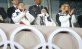 伊万卡出席冬奥会闭幕式现场