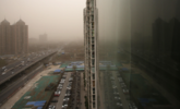 """外来沙尘路过 带来北京灰蒙蒙""""大片"""""""