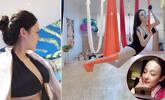 95后空姐晒性感私照 大玩空中瑜伽