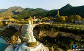 蔚为壮观!无人机镜头下的灵山寺