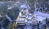 冬日里的山西安国寺现雪韵美景