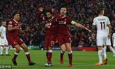 萨拉赫2球2助 利物浦主场5-2罗马