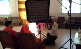 75岁儿子和96岁母亲拍婚纱照|组图