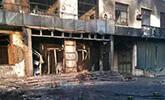 油罐车爆炸后景象
