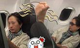 韩国大妈机舱拍醒女子:我晾晾脚
