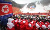 天气恶劣朝鲜拉拉队仍到场助威