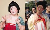 胖姑娘化妆2小时 上海街头演绎唐朝仕女