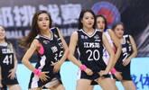 篮球宝贝热舞助威CBA夏季联赛
