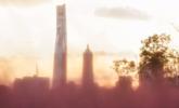 上海中心城区现粉黛乱子草|组图