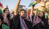 伊拉克美国领事馆外抗议集会|现场图