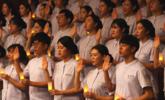 """韩大学""""准护士""""参加加南丁格尔宣誓仪式"""