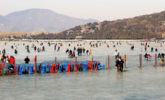 北京颐和园昆明湖冰场正式开放