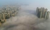 """长沙大雾 高楼耸立如在""""天宫"""""""
