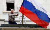 俄罗斯驻英国大使馆摘下国旗