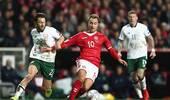 世预赛-爱尔兰门神连续神扑力挽狂澜 客场0-0丹麦