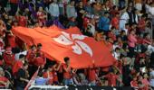 香港球迷无视法律再嘘国歌 港议员称他们非真球迷