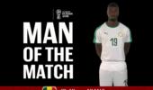 官方:尼昂当选塞内加尔波兰比赛最佳球员