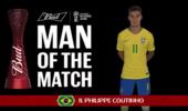 官方:库蒂尼奥当选巴西哥斯达黎加比赛最佳球员