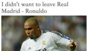 罗纳尔多专访:有人逼我离开皇马!金球奖?今年绝不会选择梅西!
