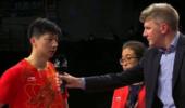 男乒世界杯马龙夺铜 赛后直言:有遗憾 但已尽力