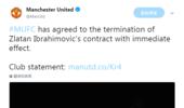 官方:曼联宣布与伊布终止合同