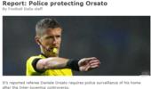 警方监控国米尤文大战主裁家 防止过激球迷闹事