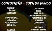 巴西公布世界杯23人名单:中超悲剧仅一人入选