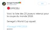 塞内加尔公布世界杯23人大名单:利物浦锋霸领衔