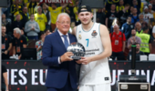 皇马夺欧洲篮球联赛冠军 东契奇当选最终四强赛MVP