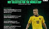 外媒评世界杯落选23人:纳英戈兰 莫拉塔领衔