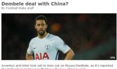 中超队6千万欧报价热刺中场 比利时国脚世界杯后定未来