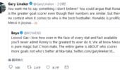 不服!莱因克尔:C罗是伟大射手 梅西世界最佳