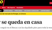 《世界体育报》:巴萨前锋穆尼尔已决定留队