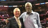 两位传奇!NBA官方发布韦斯特与拉塞尔的合照